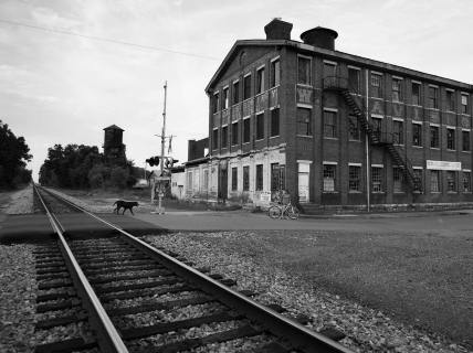 9-14-2015 W.B. Davis Hosiery Mill-Fort Payne Alabama-Building Established 1889-Pentax 6x7-45mm lens-Ilford Delta 100 120 film-PMK Pyro developer.