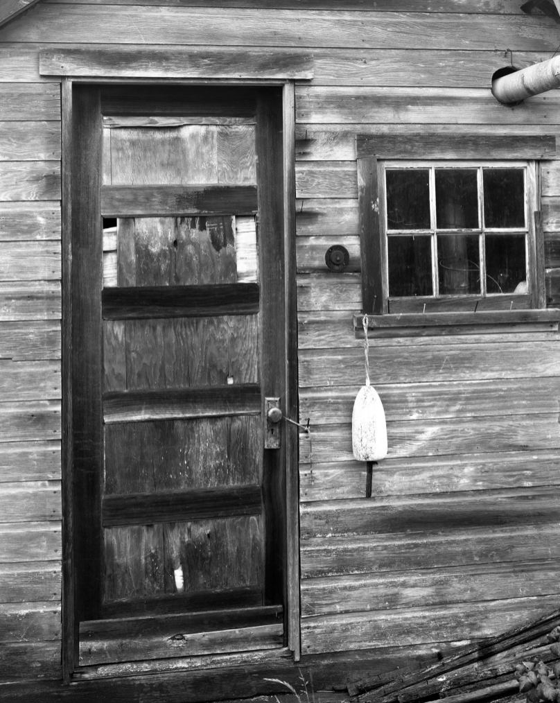10-14-1985 Port Clyde Maine-Boat house-Toyo 8x10M camera-300mm Schneider Xenar lens-Kodak Tri X Pro 8x10 film-Kodak HC110 developer.