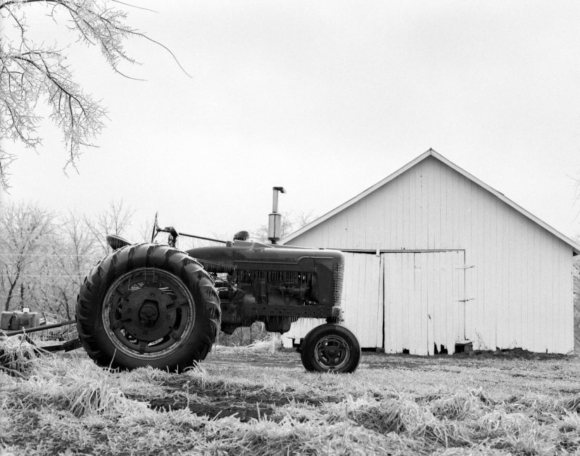 2-2001 Near Glasgow Missouri-Pentax 6x7 camera-75mm lens-Ilford HP5+ 120 film-Kodak D76 developer.