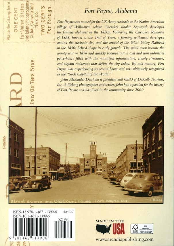 Fort Payne Postcard History Series by John Alexander Dersham - #134