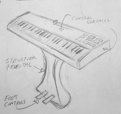 Keyboard Pedestal Concept