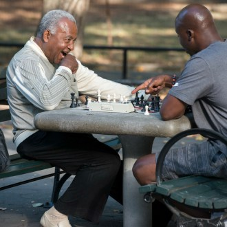 Gotcha!, Harlem Chess, by John Dowell artist photographer