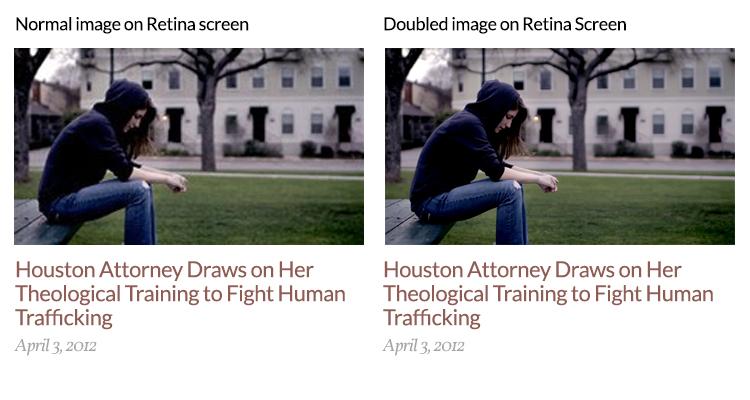 Retina image vs. non-Retina