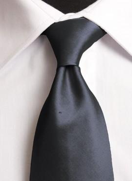 Charcoal Standard Tie (+ Handkerchief)