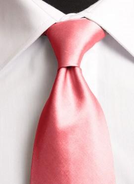 Coral Standard Tie (+ Handkerchief)