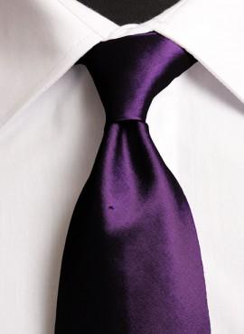 Dark Purple Standard Tie (+ Handkerchief)