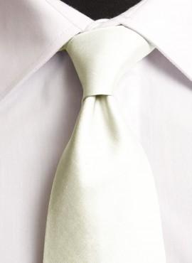 Ivory Satin Standard Tie (+ Handkerchief)