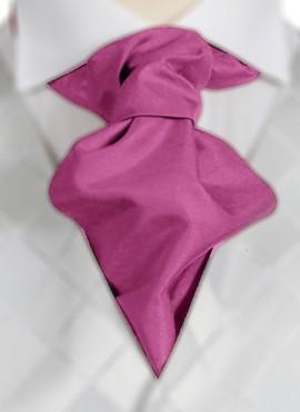 Fuchsia Ruche Tie (+ Handkerchief)