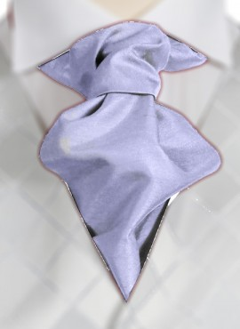 Lilac Ruche Tie (+ Handkerchief)