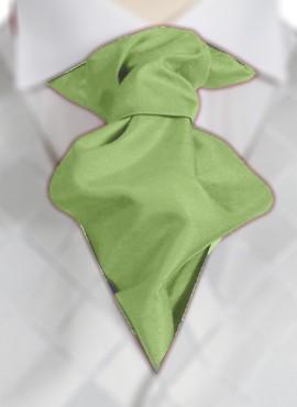 Lime Ruche Tie (+ Handkerchief)
