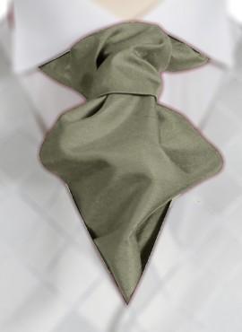 Olive Ruche Tie (+ Handkerchief)