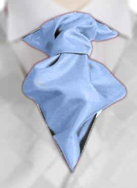 Sky Ruche Tie (+ Handkerchief)