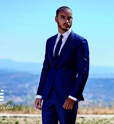 Navy Goodfellas Check 3 Piece Suit by Torre