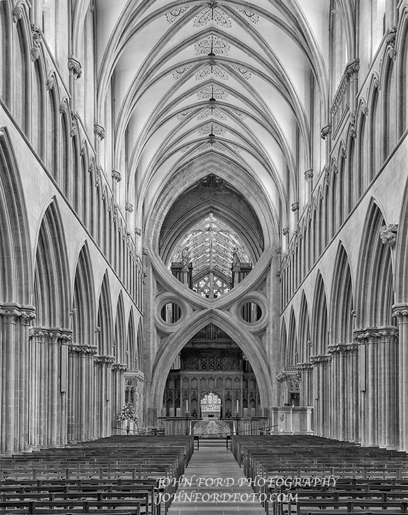 WELLS NAVE, ENGLISH CATHEDRALS