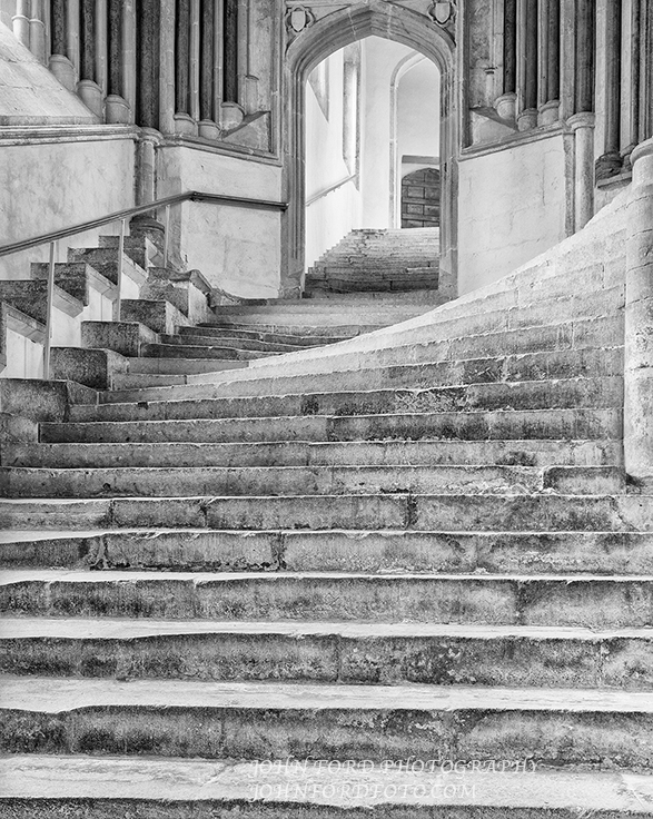 WELLS STAIRS 3, ENGLISH CATHEDRALS