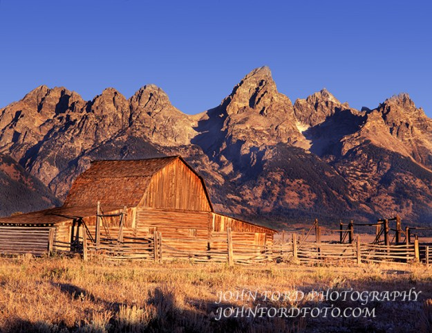 Picture Mormon Row Barn and Tetons