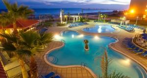 hotel pool night