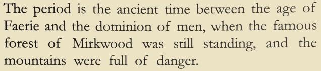 Hobbit blurb sentence facsimile