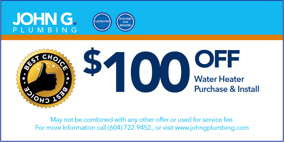 Coupon for Tankless Water Heater Purchase and Install