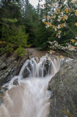 The top of Huntington Gorge after heavy rains