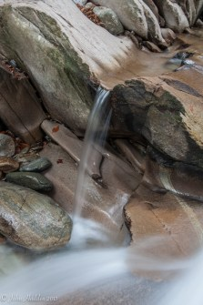 Water continues to carve the limestone of Cobb Brook