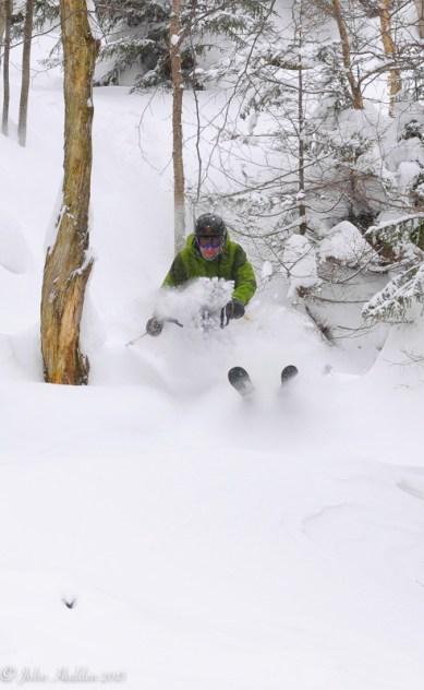 Paul Vichi takes advantage of the powder at Mad River Glen.