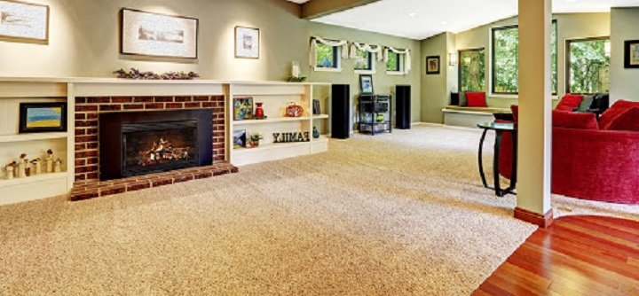 hardwood and carpet floors