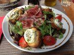 Goat cheese salad at La Flara