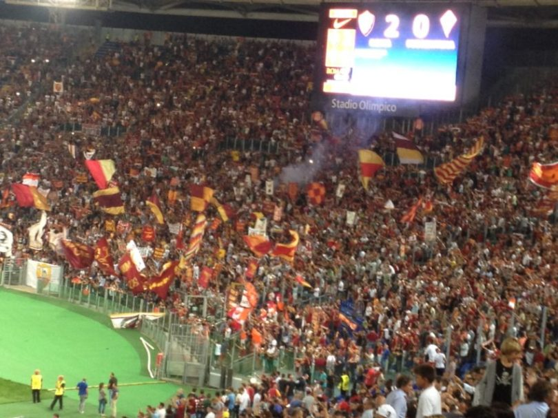 Curva Sud's vicious fans were unusually well behaved for A.S. Roma's season opener Saturday night.