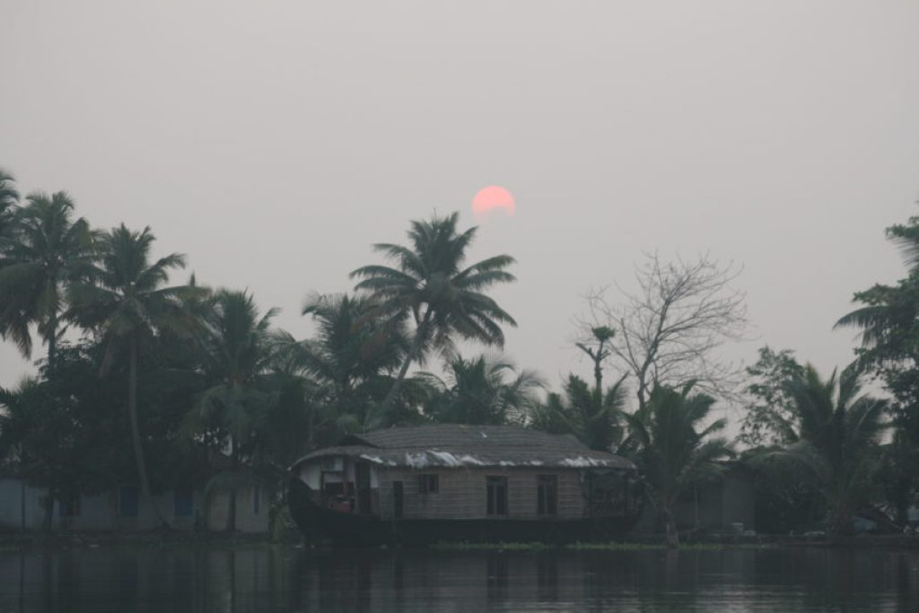The sun rises over the Backwaters at 7 a.m.