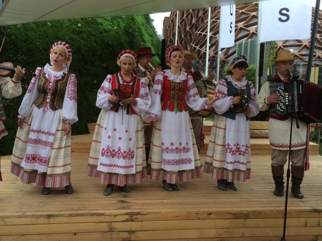 Belarus was one of the many pavilions with cultural performances.