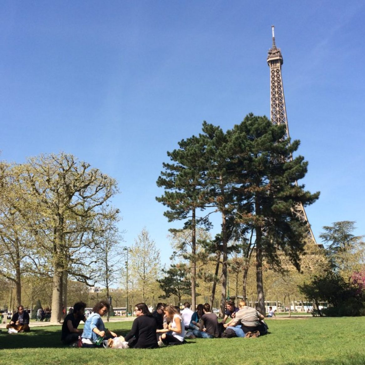 The Eiffel Tower attracts hordes of tourists but hungry French go there, too.