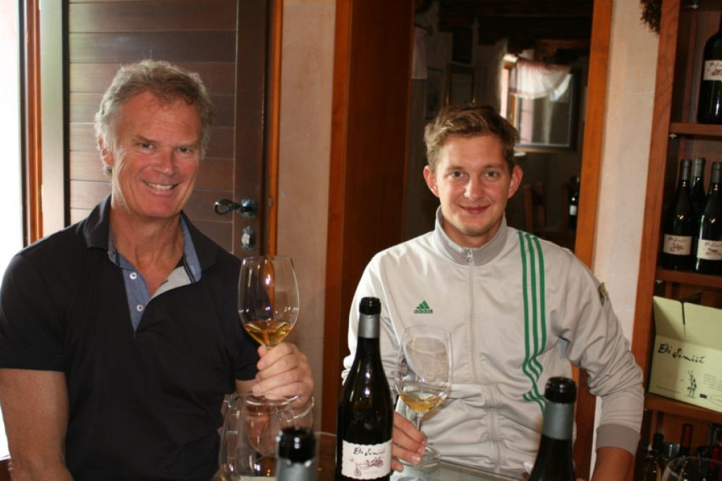 Me and Jure Simcic at Edi Simcic winery, started by his grandfather in 1991.