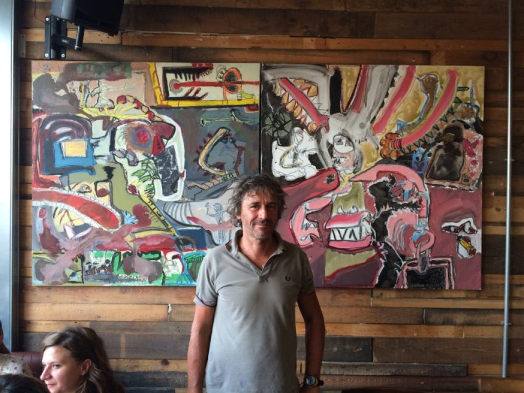 Corrado Sassi, the artist who did the paintings in Hopside.