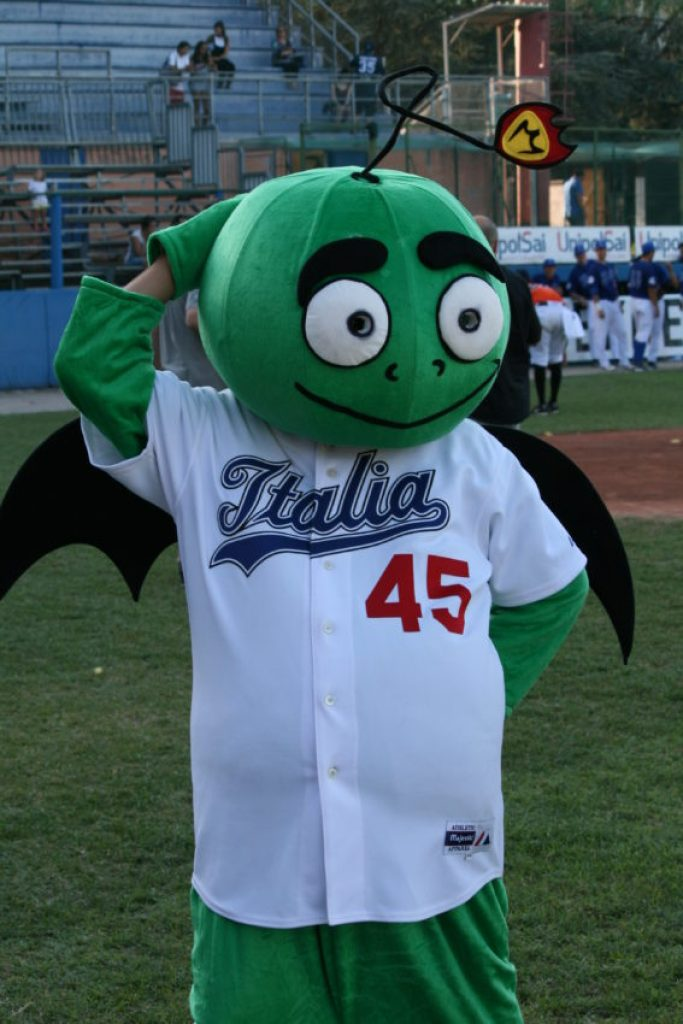 Yes, Italy has picked up the American custom of annoying mascots.