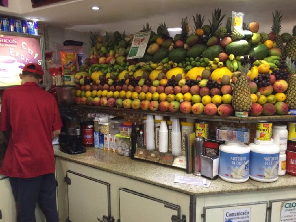 Juice bars are on nearly every block in Rio.