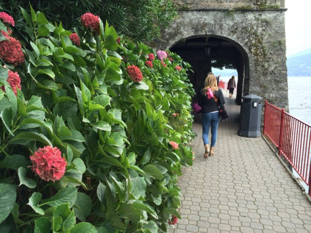One of the many garden-covered walkways on Varenna.