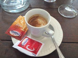 Caffe macchiato.