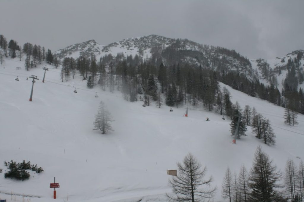 Malbun ski area has only one chair lift and six runs.