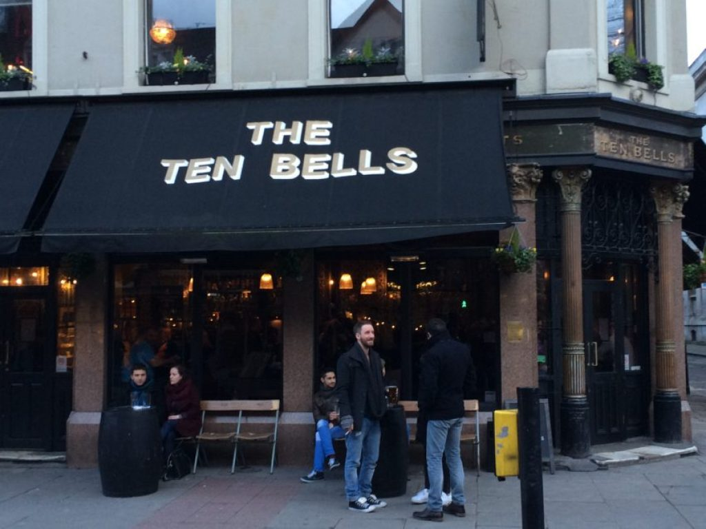 The Ten Bells is where Jack the Ripper met two of his victims during his spree from 1888-1891.