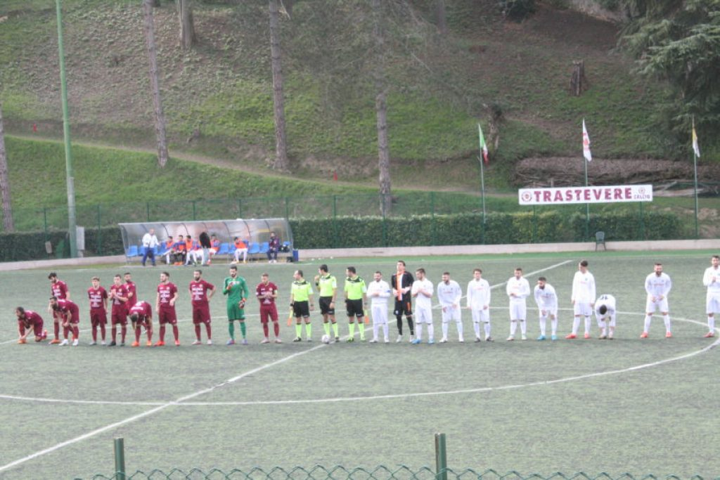 Just before kickoff of FC Trastevere vs. Cynthia.