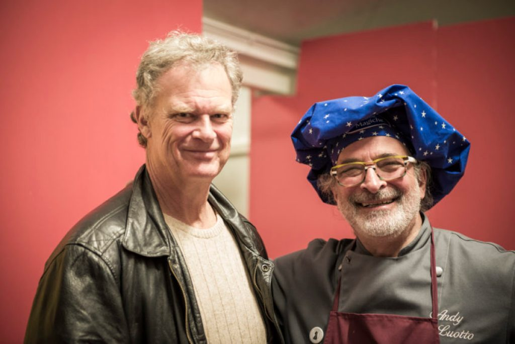 Me and Andy Luotto, the American-Italian chef who had a big hit TV show here in the '70s and '80s. Photo by Marina Pascucci.