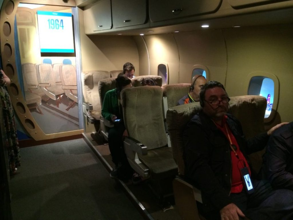 A replica of the airplane The Beatles took to their first U.S. tour in 1964.