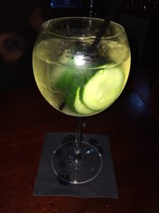 The cucumber gin cocktail.