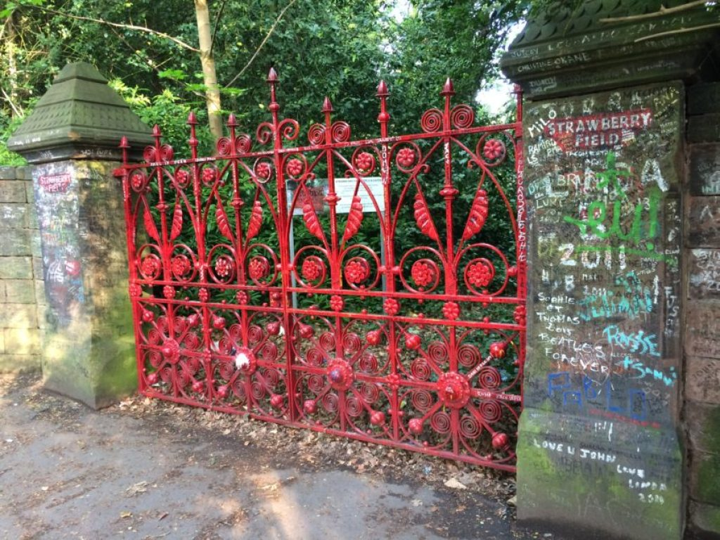 The real strawberry fields where McCartney and Lennon played as kids.