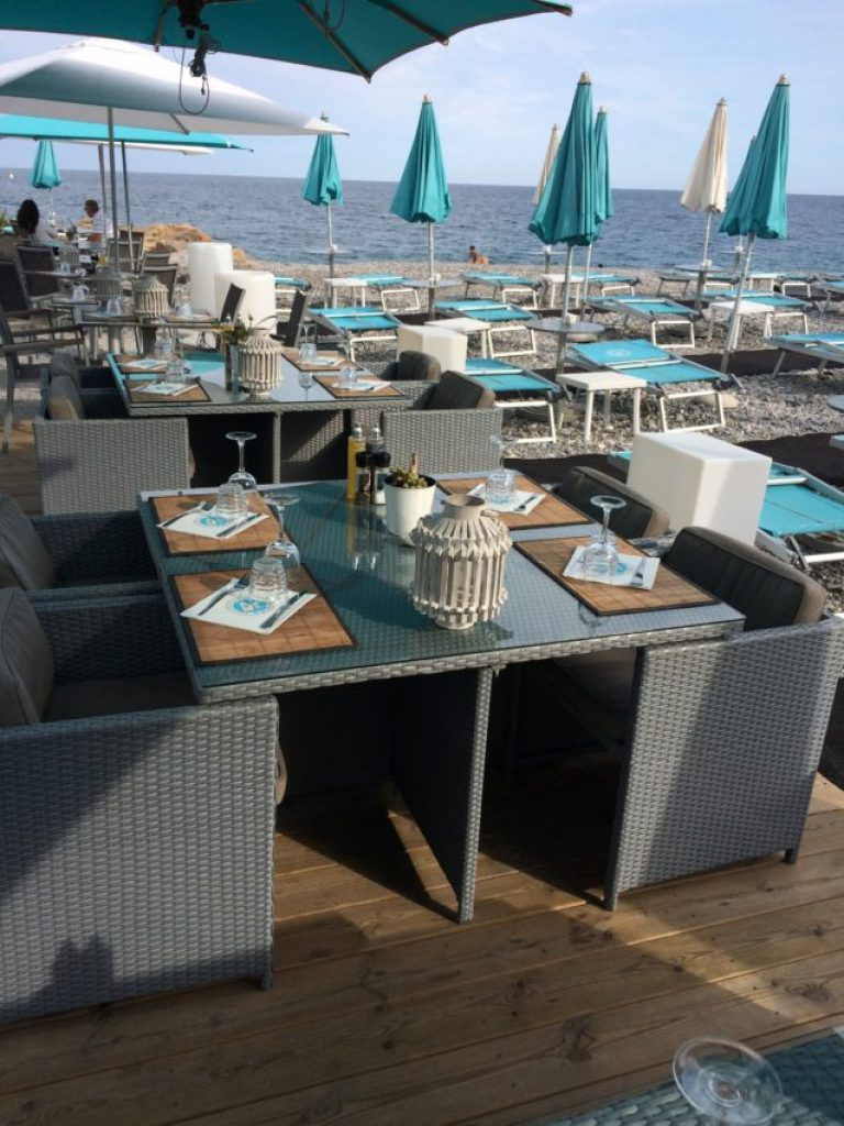 Nice has plenty of water-side dining options such as Miami Beach.