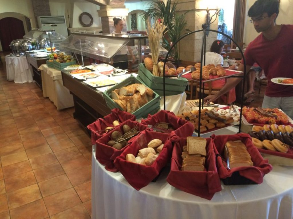 The Marriott's buffet is a good way to start the day.