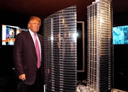 Donald Trump's worth last year was listed at $4.5 billion