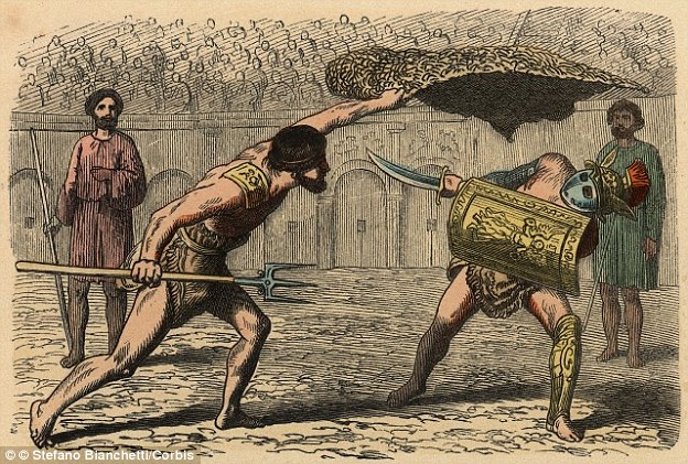 Many losing gladiators lived to fight another day.