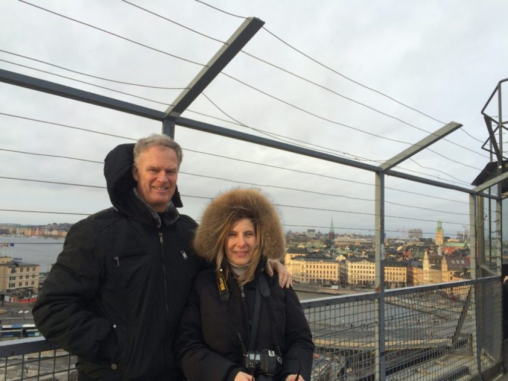 Marina and I atop the bridge at Erik's Gondolen.